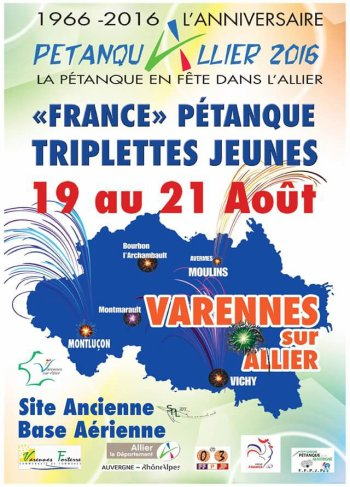 CHAMPIONNAT DE FRANCE TRIPLETTES JEUNES.2016.