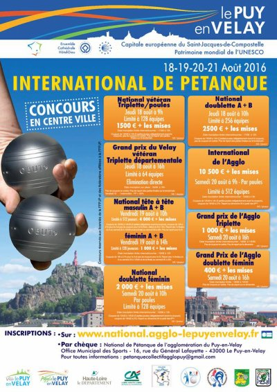 INTERNATIONAL DE PETANQUE PUY EN VELAY.