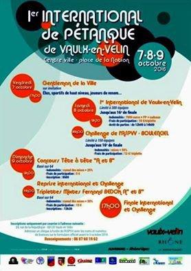 INTERNATIONAL VAULX EN VELIN. RESULTATS.