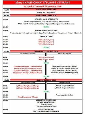 Championnat d Europe Jeunes 2016, 4eme tour de qualification.