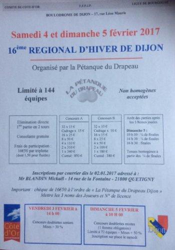 REGIONAL  DE DIJON.ORGANISE PAR  LE DRAPEAU.