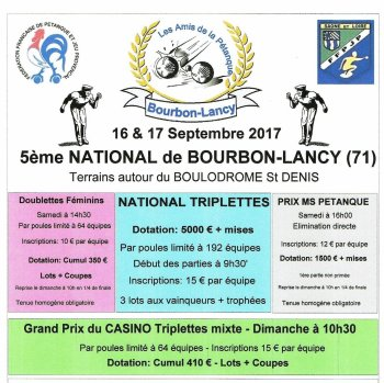 NATIONAL DE BOURBON LANCY.