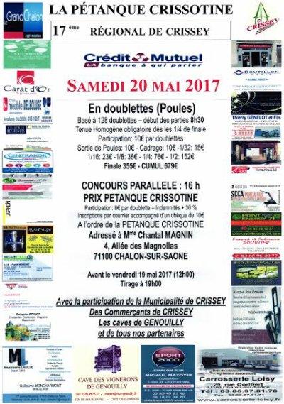 REGIONAL DE CRISSEY 2017.RESULTATS.