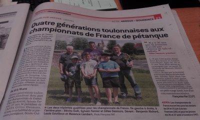 LES CHAMPIONSTRIPLETTES PROMOTION ET JEUNES A L HONNEUR.