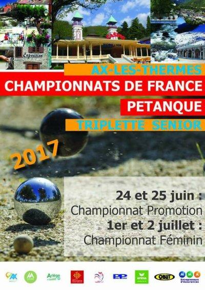 CHAMPIONNAT DE FRANCE TRIPLETTES PROMOTION.TIRAGE ET EQUIPES.