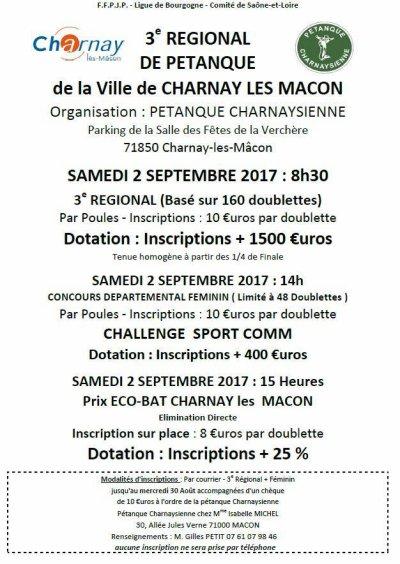 REGIONAL DE CHARNAY LES MACON.RESULTATS.
