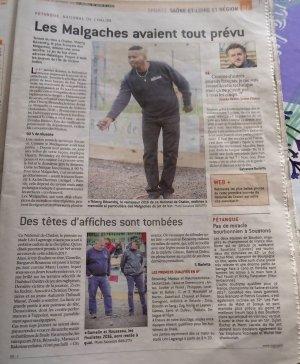 NATIONAL DE CHALON SUR SAONE. ARTICLES JSL.
