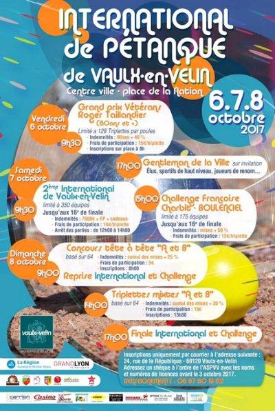 INTERNATIONAL DE VAULX EN VELIN.RESULTATS.