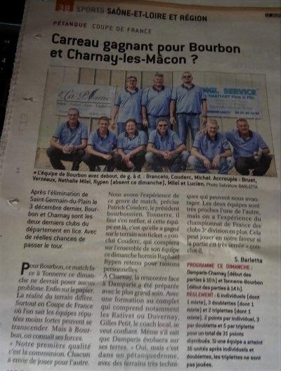 COUPE DE FRANCE. 2Clubs CD 71 toujours en course.JSL DU 16 DECEMBRE.