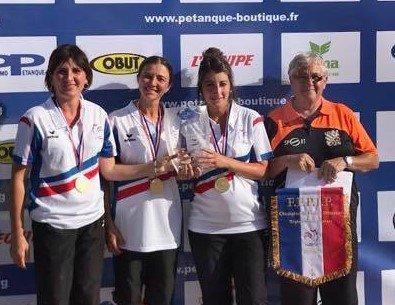 CHAMPIONNAT DE FRANCE TRIPLETTE FEMININ.
