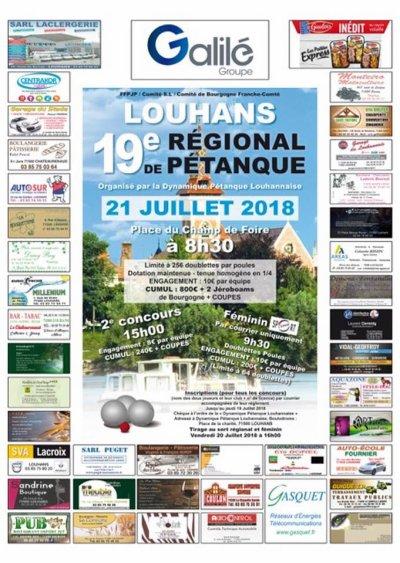 19 IEME REGIONAL DE LOUHANS.TIRAGE.