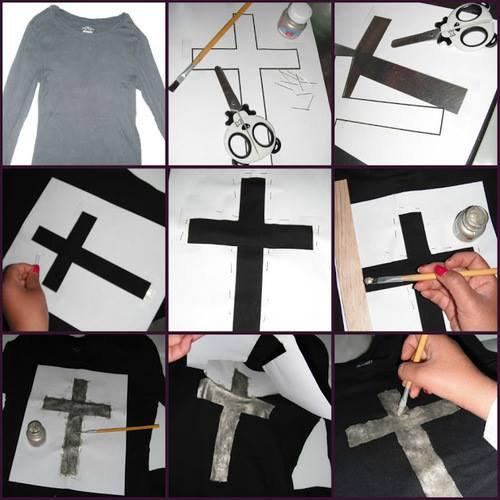 Tutoriel T-shirt croix