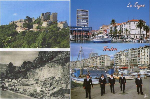 voici le port de la Seyne et Toulon en 2007.ils sont face a face que la mer a traverser.puis Evenos.