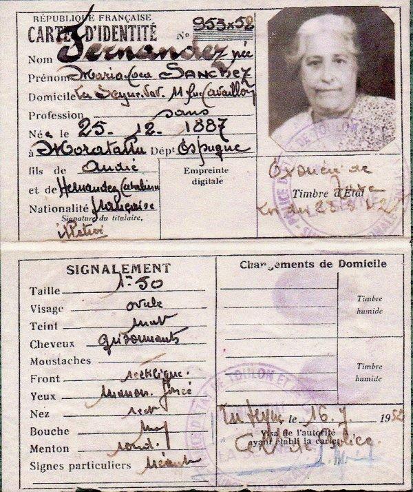 famille d'Espagne coté maternel José Fernandez et Maria mes grands parents et arrieres grand parents