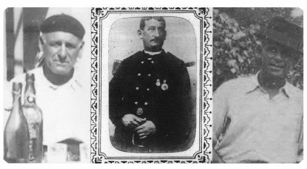 voici mon arriere grand pére Léon Marius Cadiere pendant sa carriere de marin, grand pére de mon pére.et ses deux fils de la même mére