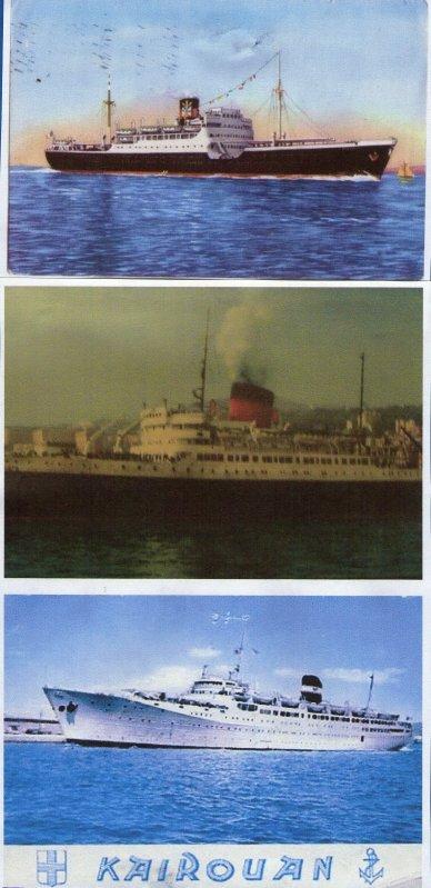 ici la photo a été modifié,donc voici les bateaux que mon époux a pris etant appelé sous les drapeaux pour l'Algèrie.