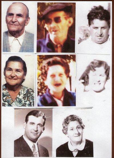 les 4 freres Quercia et leurs épouses enfants de Philippe et Marie Hélène Napéa