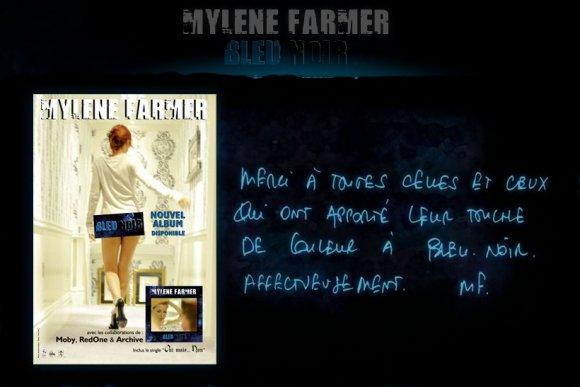 Un message de Mylène sur Bleu Noir.com