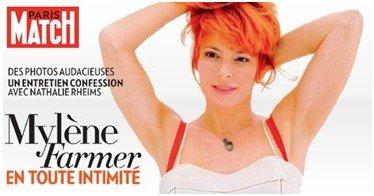 Mylène dans Paris Match demain !