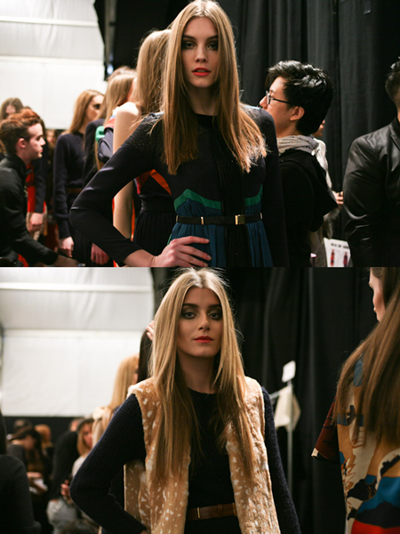 Jill Stuart  | Automne-Hiver (in backstage)