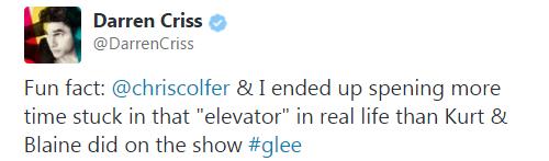 Traduction Tweet Darren Criss.