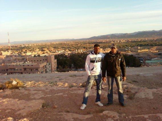 moi et mon ami mohamed  au centre ville