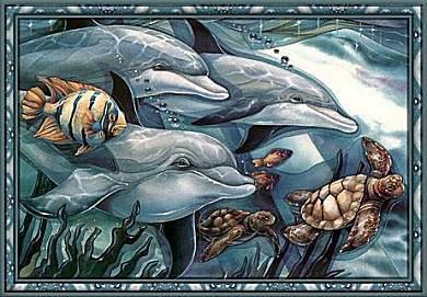 gravure dauphins