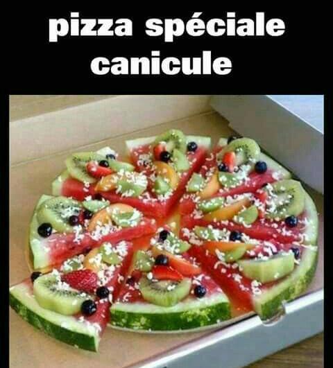 Pour tout les fan de pizzas qui ont trop chaud ;)