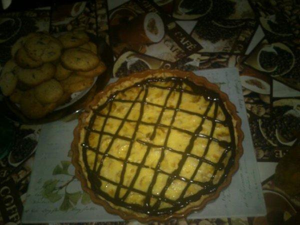 tarte banane choco