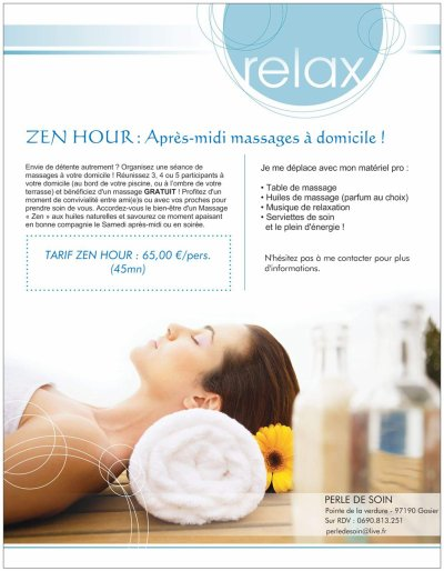 ZEN HOUR ! Ap-midi massages à domicile !