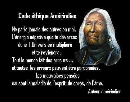 Code éthique amérindien  ...