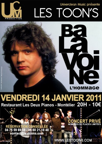 DATE À RETENIR 14 JANVIER 2011 HOMMAGE À BALAVOINE !