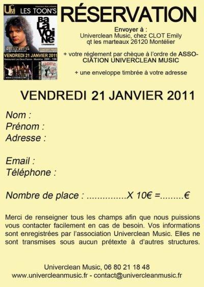 HOMMAGE À BALAVOINE DATE SUPPLÉMENTAIRE 21/01/11 !!