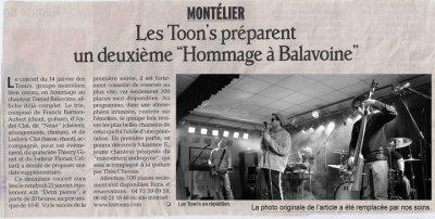 ARTICLE DAUPHINÉ LIBÉRÉ  13/ 01/11