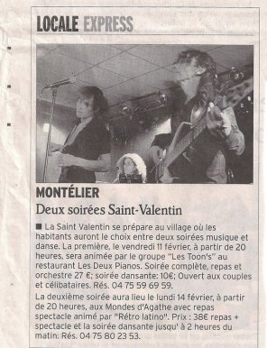 ARTICLE DAUPHINÉ 7/02/11