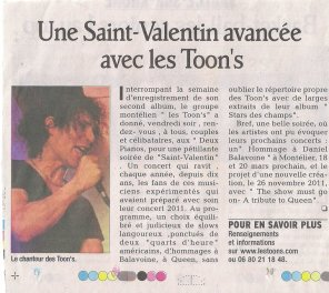 ARTICLE DU DAUPHINÉ 15/02/11