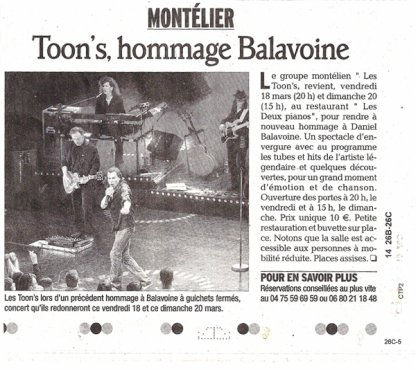 ARTICLE DU DAUPHINÉ 16/03/11