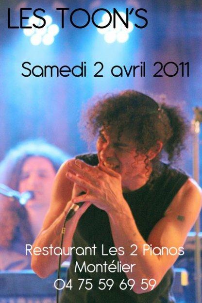 SOIRÉE CONCERT DANSANT LE 2 AVRIL 2011 À MONTELIER