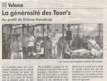 ARTICLE RÉCENT SUR LES TOON'S !