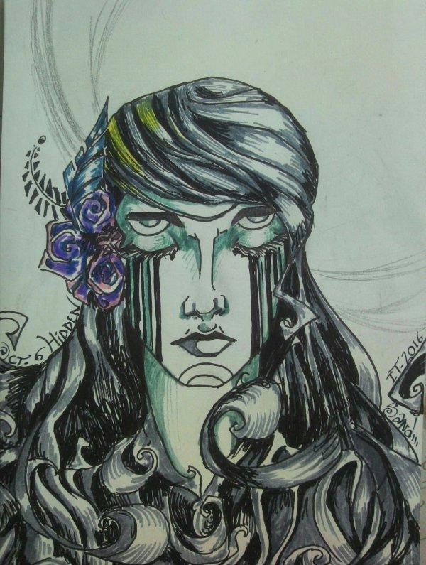 Atelier gribidouillage ~ INKTOBER : Hidden