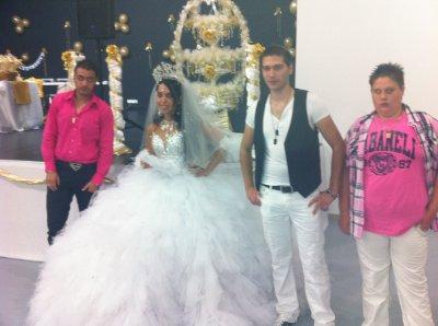 yo ,la novia (cecilia) , el samuel y joshua