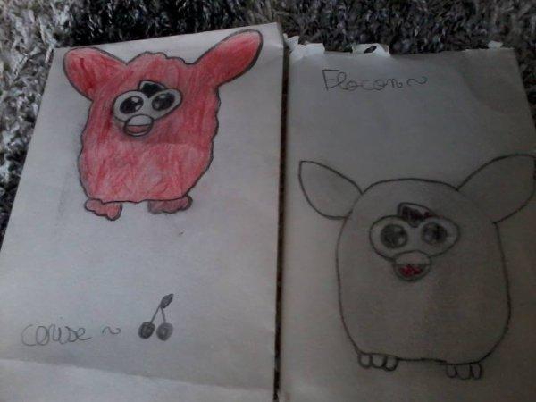 Mes dessins furby :)