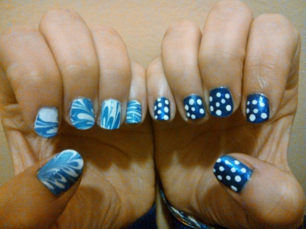 Water Marble et pois blanc