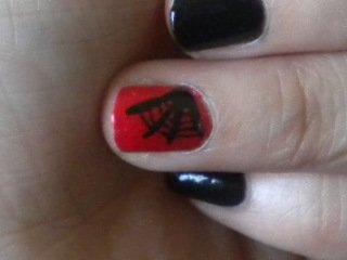 Nail art Gothique