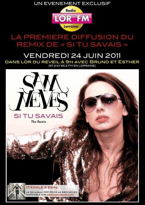 """DIFFUSION EXCLUSIVE SUR LOR FM DU REMIX DE """"SI TU SAVAIS"""""""
