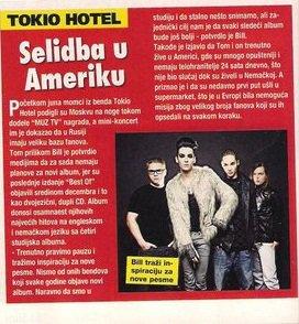 Tokio Hotel : ils se déplacent en Amérique !