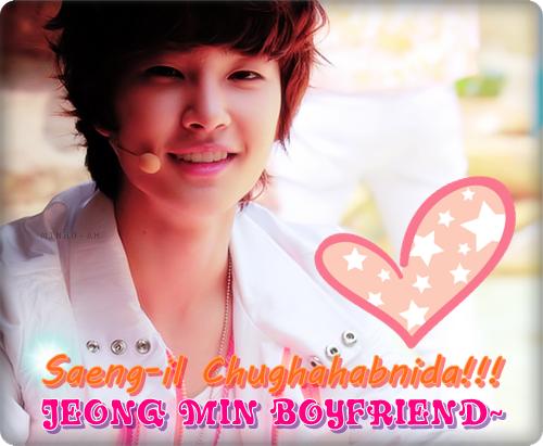 Happy Jeong Min !