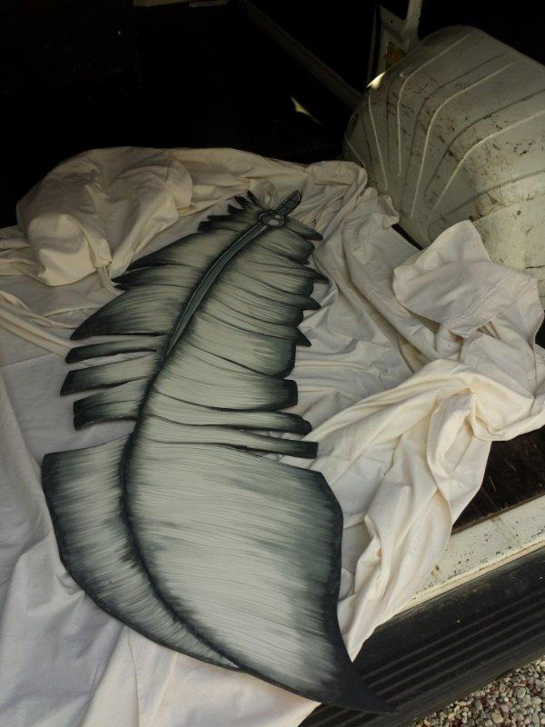 plume en bois pour tete de lit