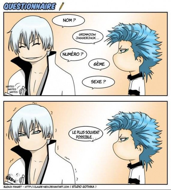 Comment Grimmjow troll Gin xD