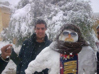 moi et mon ami homme de la neige